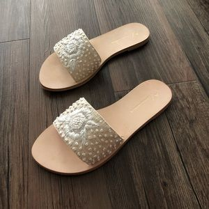 BRAND NEW A by Anthropology Embroidered Sandals
